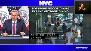 NYC Mayor Bill de Blasio said on Wednesday
