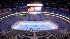 Edmonton Oilers' home arena Rogers Place is seen
