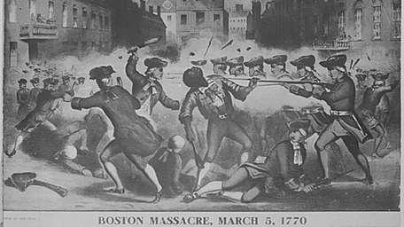 Boston Massacre, March 5, 1770. Copy of chromolithograph