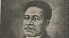 A portrait of Crispus Attucks, who was killed