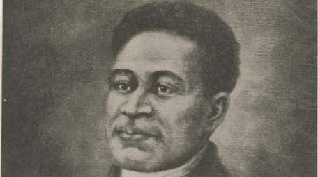 A portrait of Crispus Attucks, who was killed