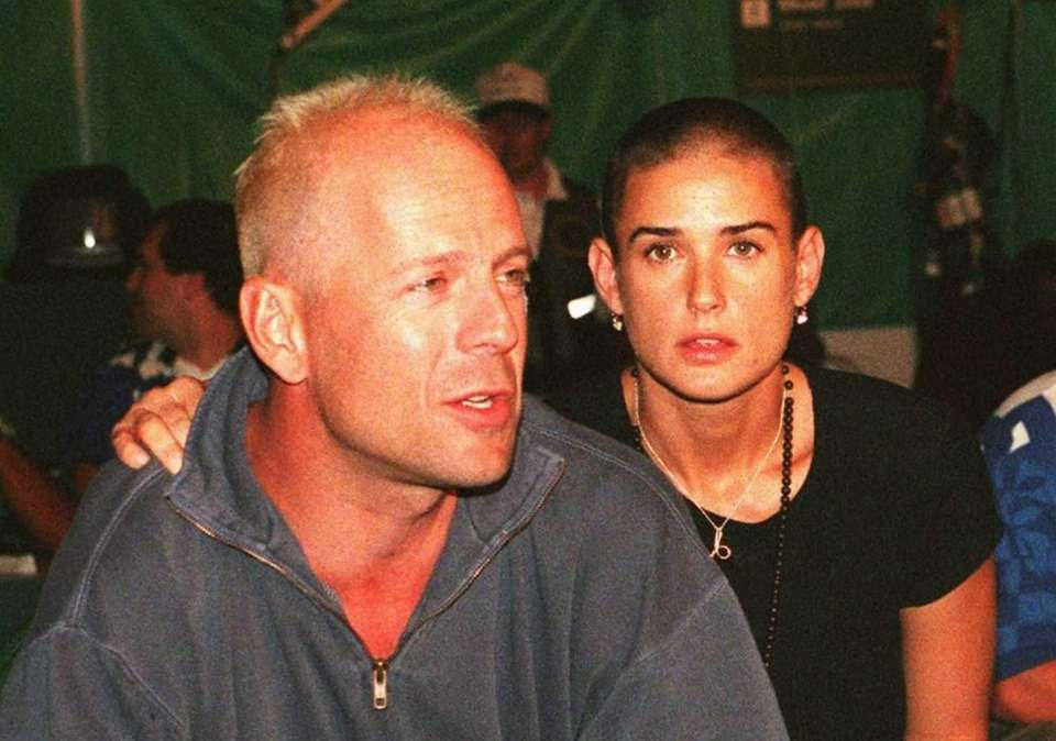 Demi Moore and Bruce Willis: The stars met