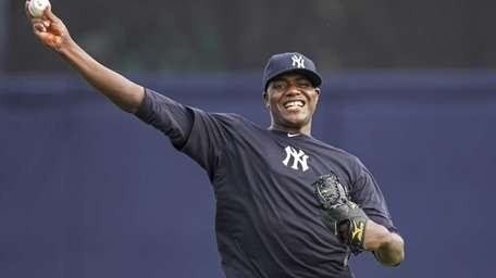 Yankees pitcher Michael Pineda throws during spring training.