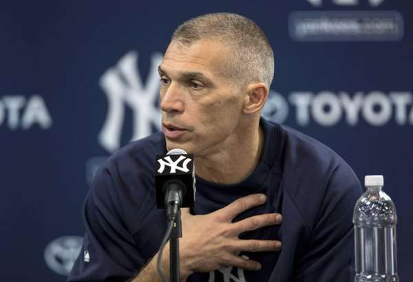 Yankees manager Joe Girardi speaks to the media