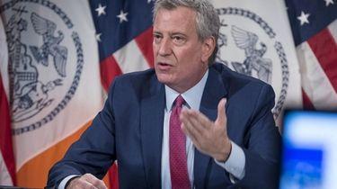 Mayor Bill de Blasio said New York City