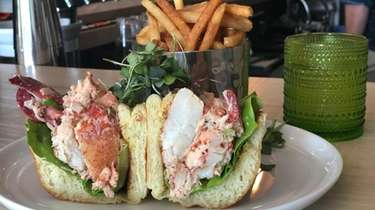 A lobster roll at Salted on the Harbor,