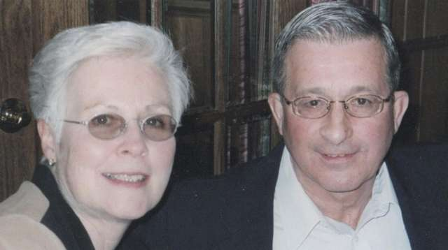 Bill Amorim in March 2001 with his wife
