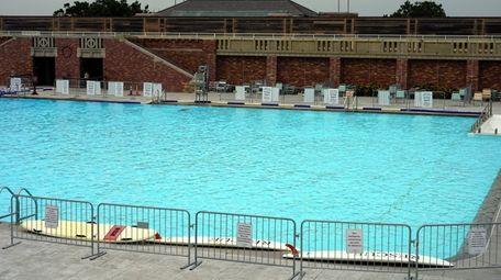 Swimming pool at Jones Beach on Saturday in