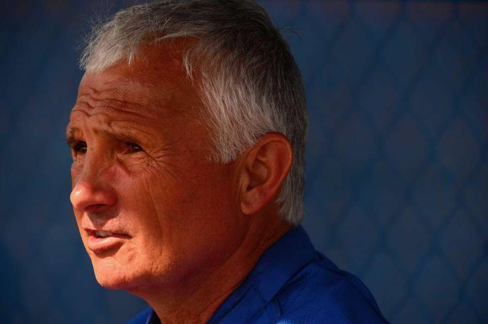 Terry Collins sits in the dugout during a