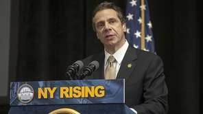 Gov. Andrew M. Cuomo speaks at the Pascack