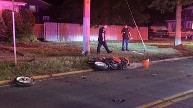 A Copiague man was killed Thursday night when
