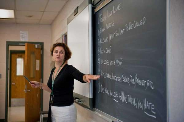 File photo of teacher in classroom. (July 31,