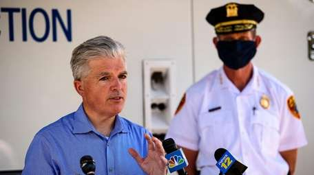 Suffolk County Executive Steve Bellone, photographed Thursday, said