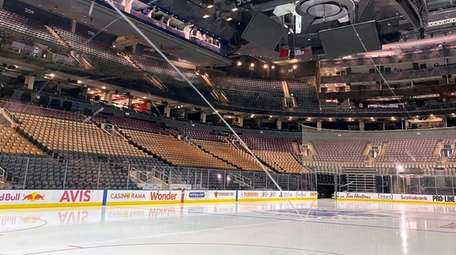 Fresh surfaced ice at Scotiabank Arena, home of