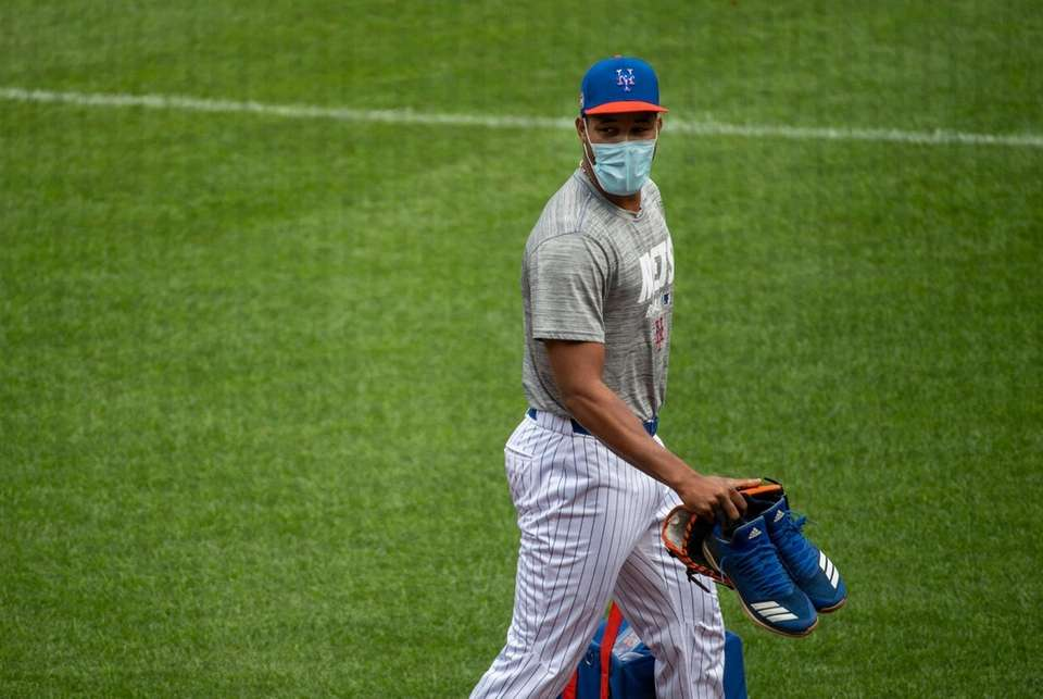 New York Mets pitcher Jeurys Familia during a