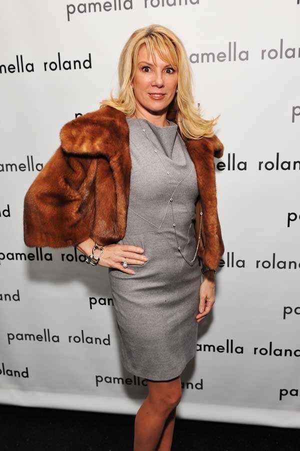 Ramona Singer poses backstage at the Pamella Roland