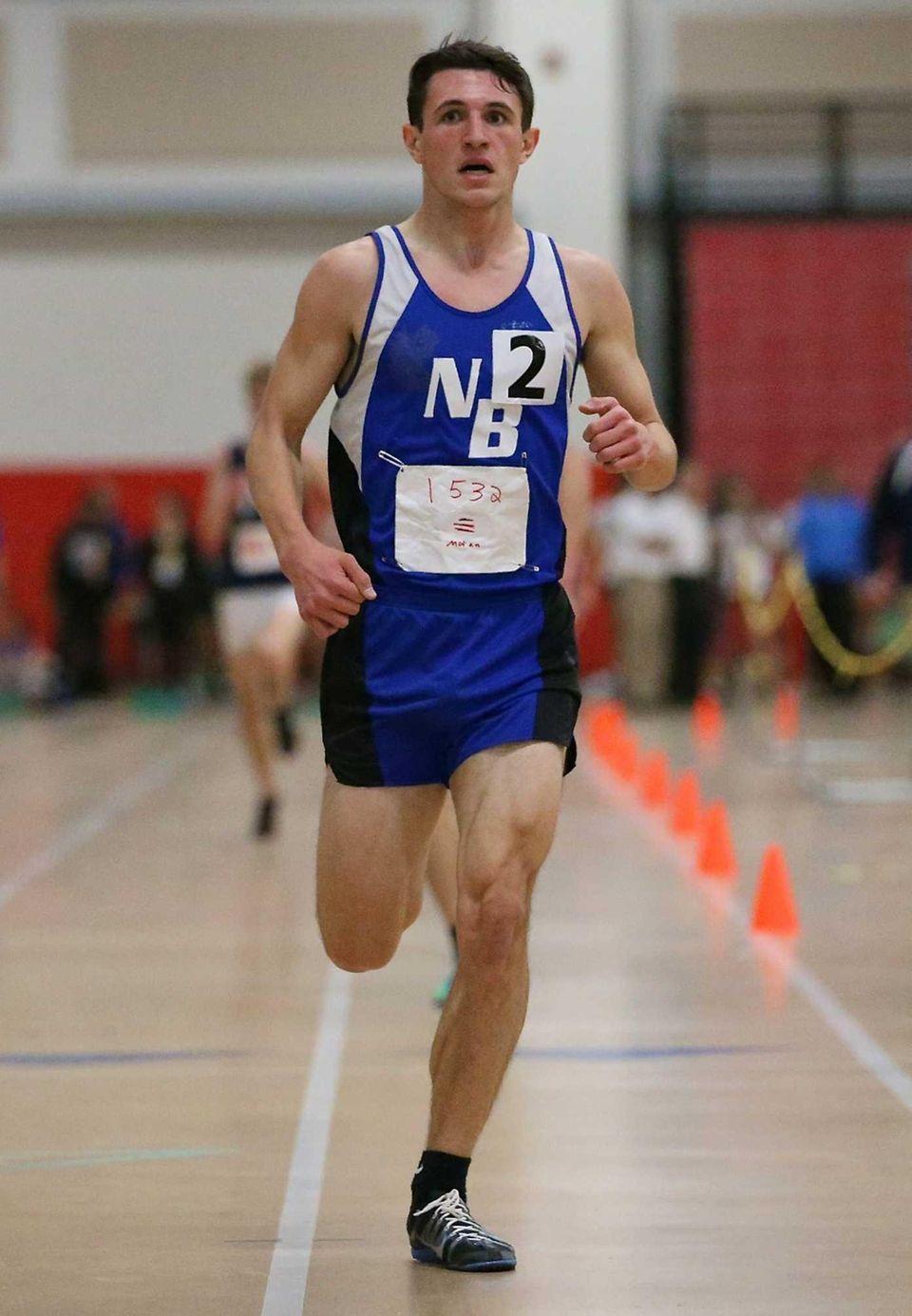 North Babylon's Kris Moran wins the boys 3200