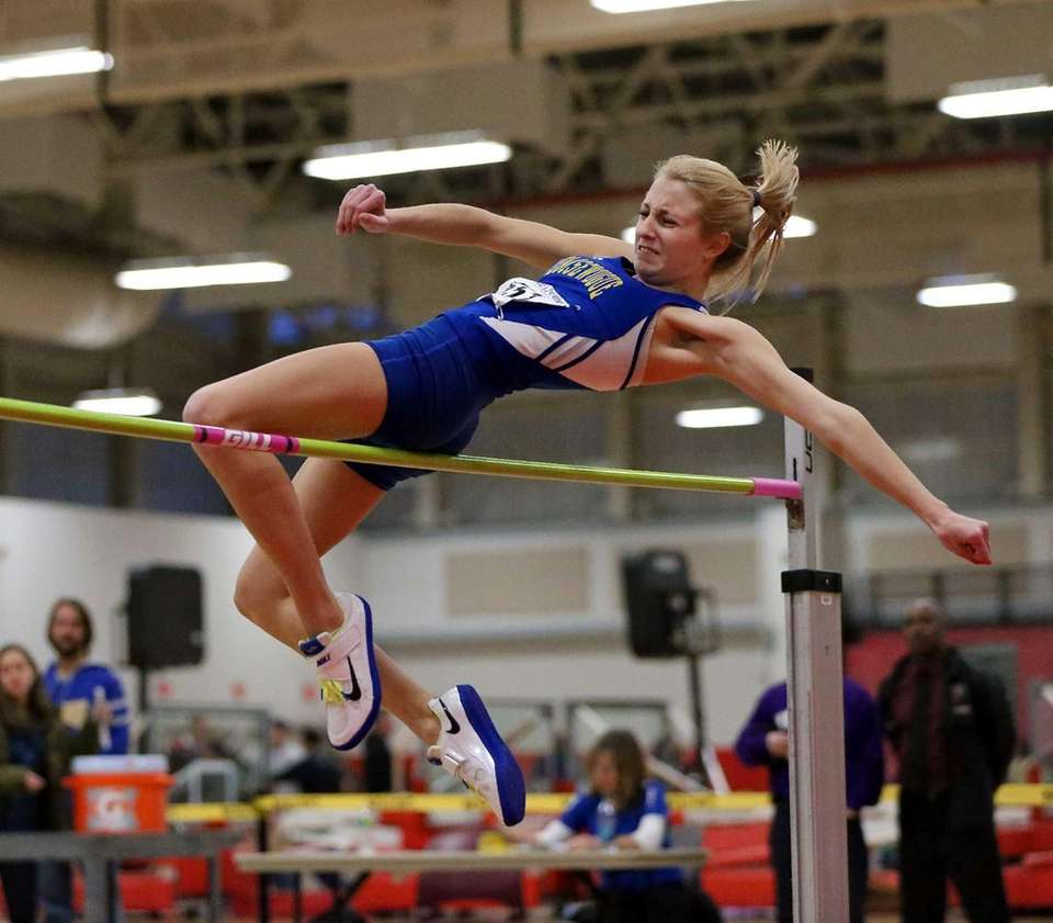 Comsewogue's Lauren Waldeck competes in the girls high