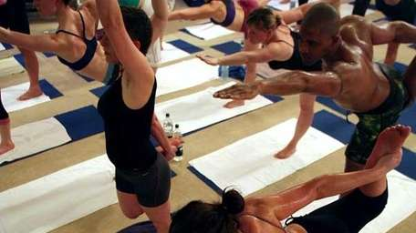 Yoga in a hot room is sure to
