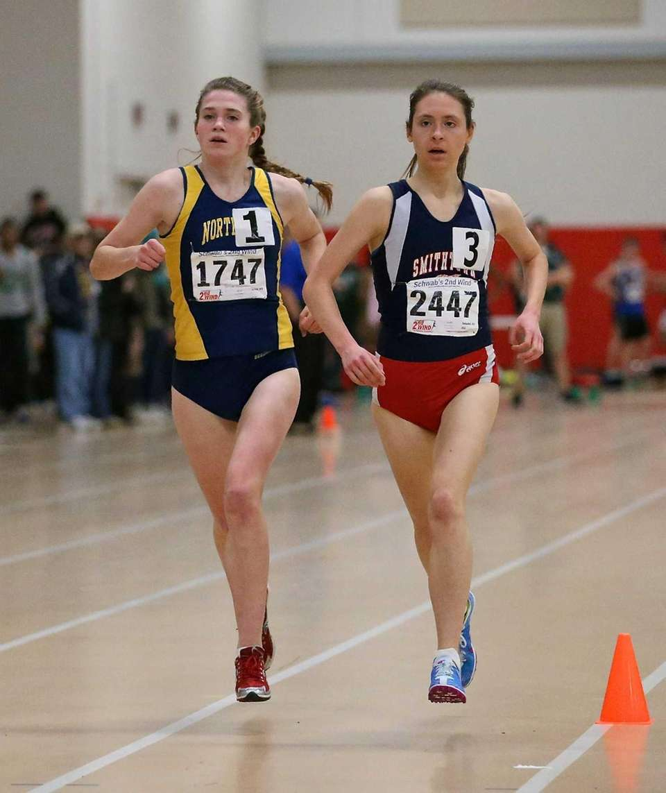 Northport's Brigid Brennan, left, competes in the 3000