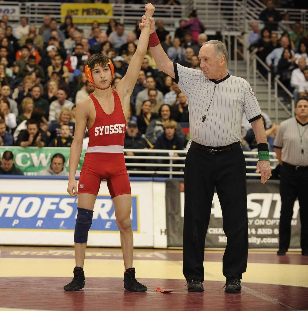 Syosset's Vito Arujau won his match against Jericho's