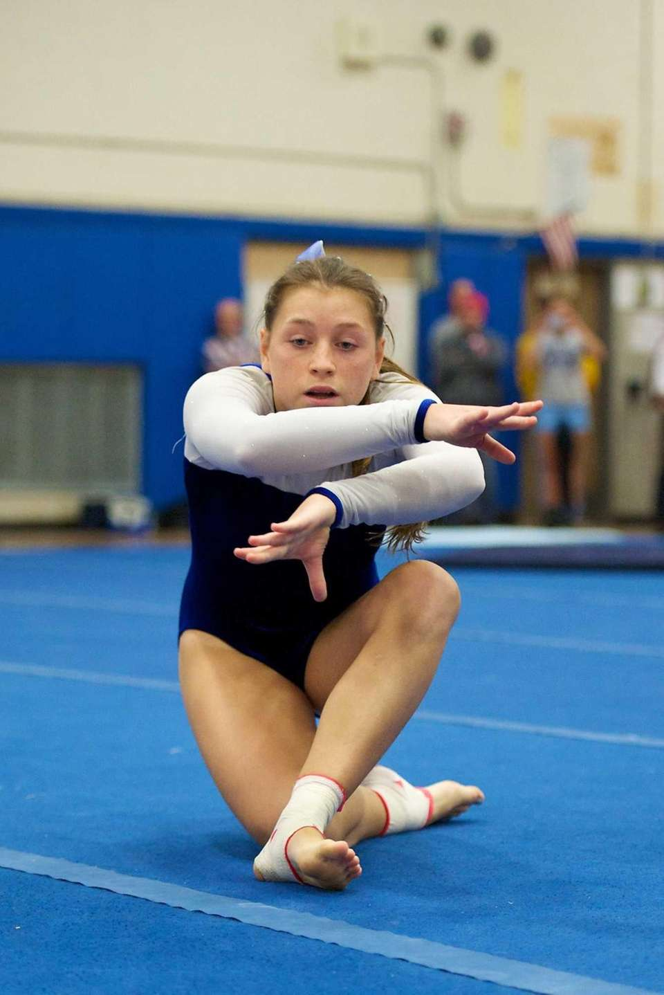 Long Beach gymnast Tara Murphy performs the floor