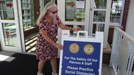 The Smithtown Library reopened on Thursday with safety
