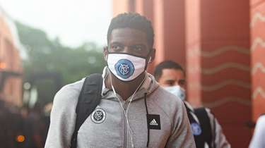 New York City FC goalkeeper Sean Johnson arrives