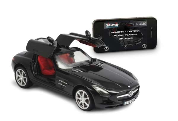 The Mercedes-Benz by Silverlit is a Bluetooth remote-control