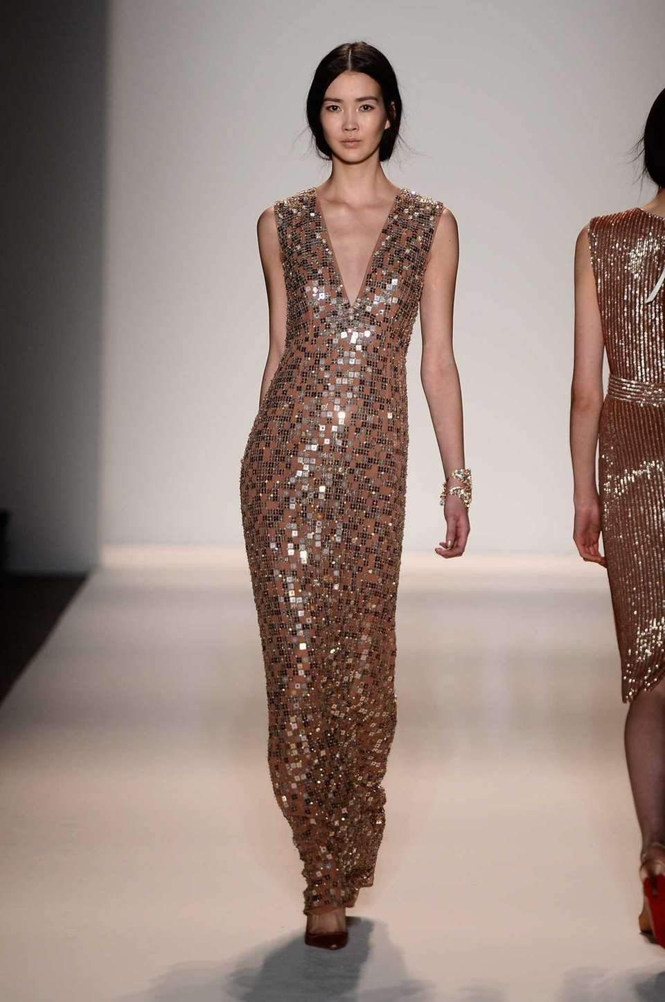 Jenny Packham's Fall 2013 fashion show during Mercedes-Benz