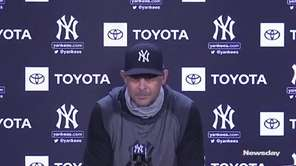 Yankees manager Aaron Booone discussed Masahiro Tanaka's condition