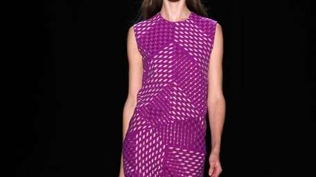 Bright colors dominated the scene on Narciso Rodriguez's