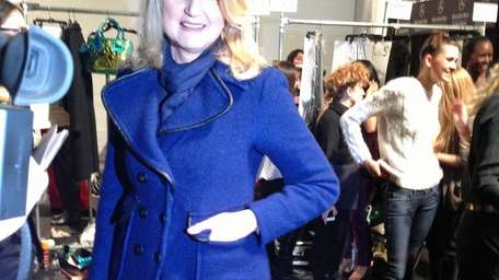 Arianna Huffington attends the Nanette Lepore show at