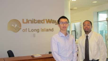 Hofstra business students, Max Liang, left, and Ezekiel