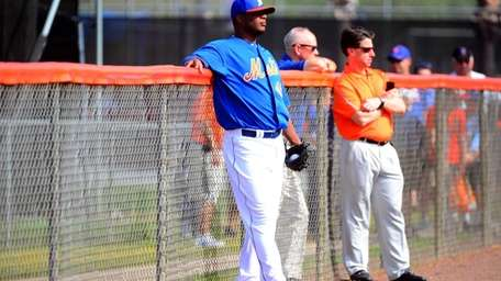 Mets reliever Frank Francisco during a spring training