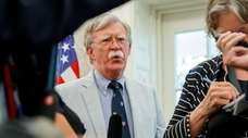Then-national security adviser John Bolton in the Oval