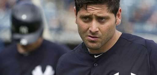 Yankees' catcher Francisco Cervelli after batting practice on