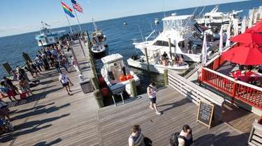 The dock in Cherry Grove, including Cherry's on