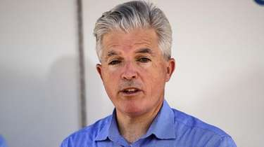 Suffolk County Executive Steve Bellone speaks during a