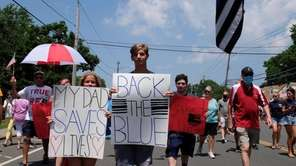 More than a thousand people marched down Wantagh Avenue Sunday,