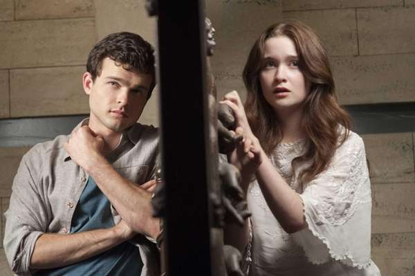 Alden Ehrenreich as Ethan Wate and Alice Englert