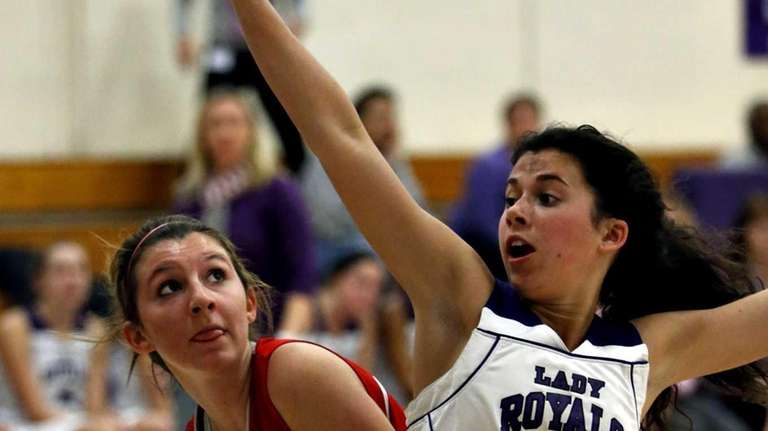 Southold's Nicole Busso waits for Port Jefferson's Teresa