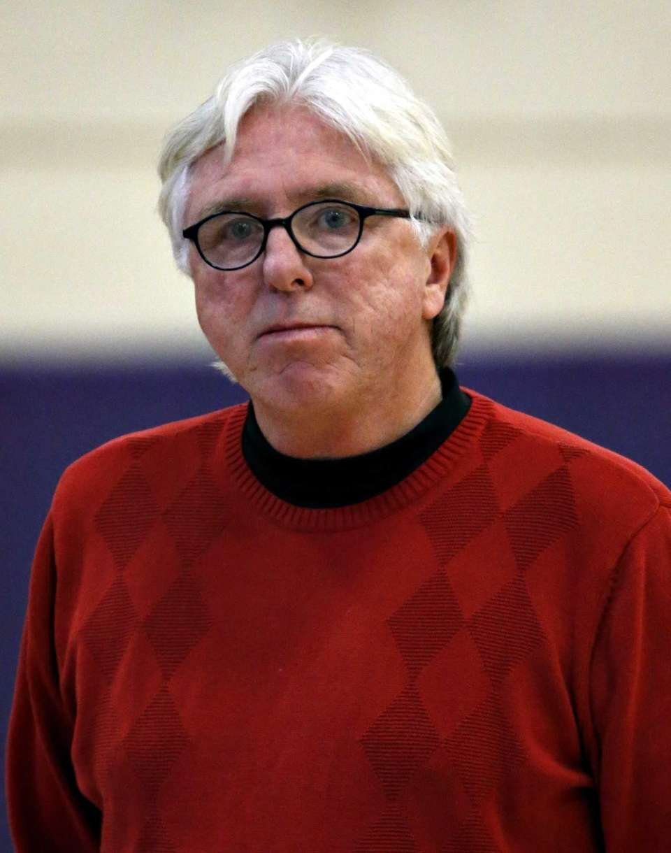 Southold girls varsity basketball head coach Joe Read