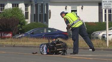 Suffolk Police and EMS respond to a crash