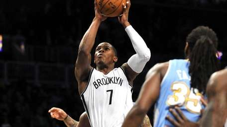 Joe Johnson goes up for a layup during