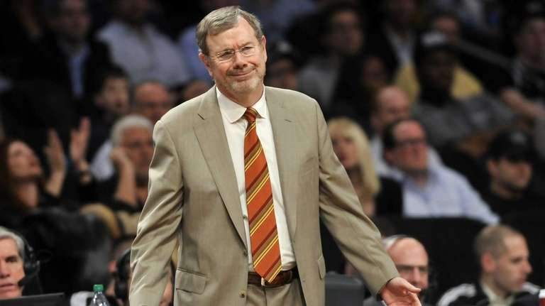 P.J. Carlesimo looks on during a game against