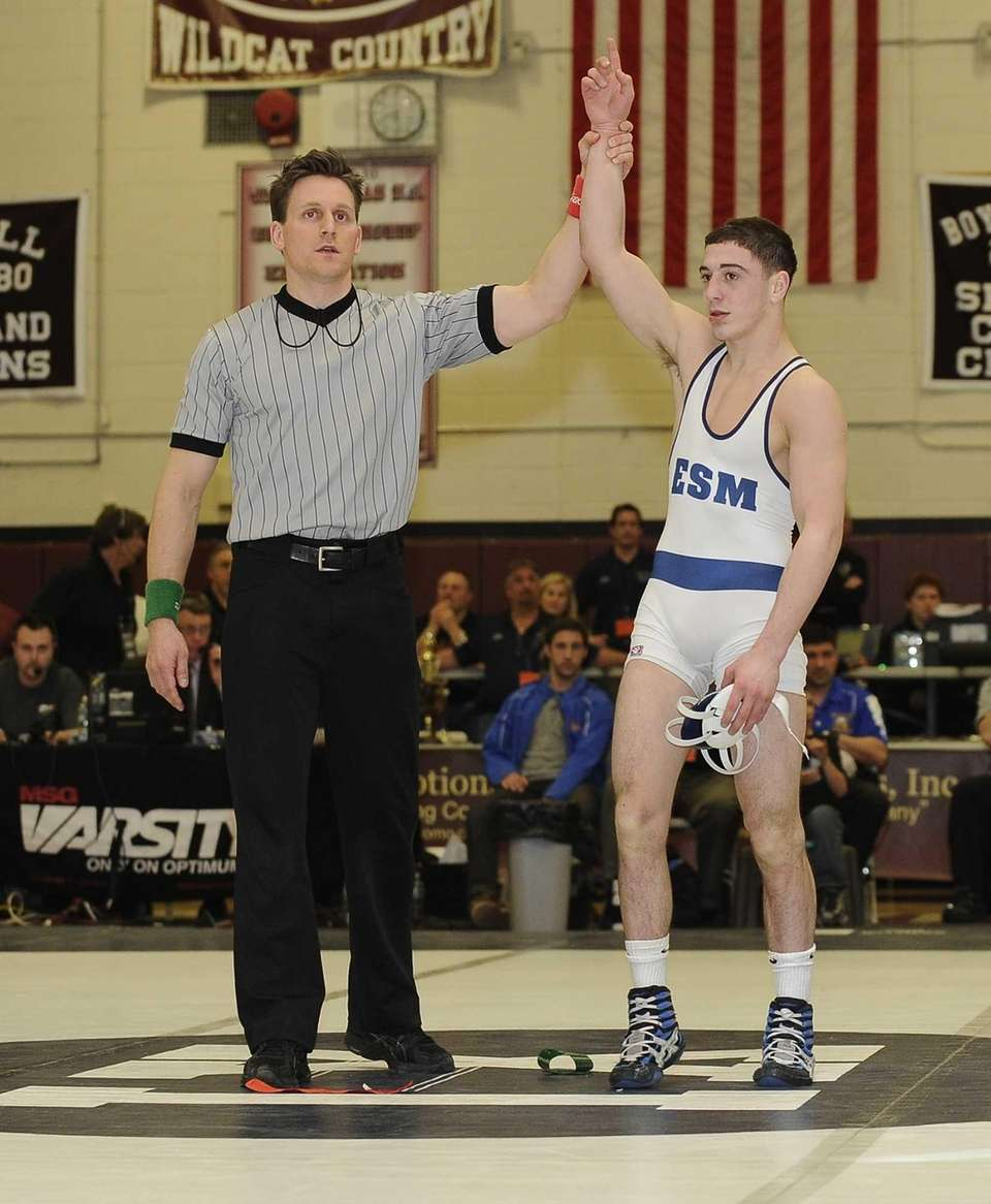 Eastport-South Manor's Travis Passaro won his match against