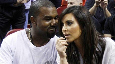 Kanye West and Kim Kardashian in Miami. (Dec.