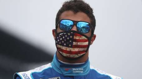 Bubba Wallace, driver of the #43 World Wide