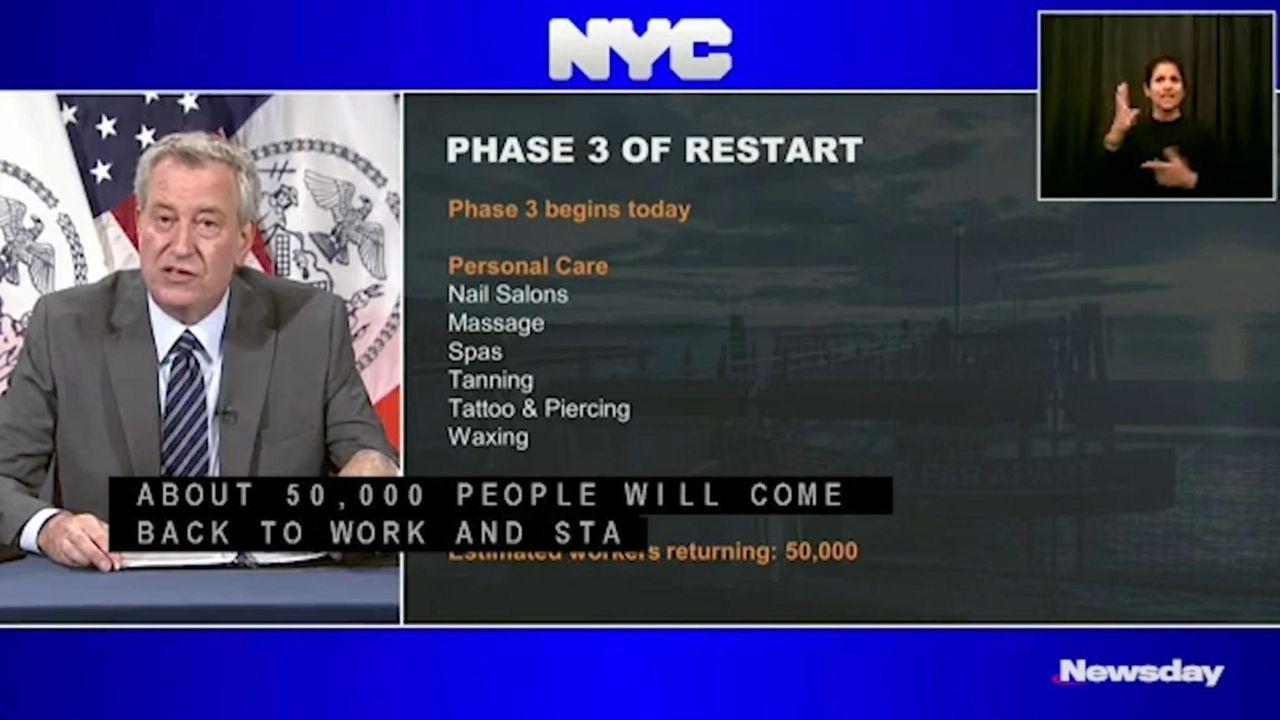 New York City Mayor Bill de Blasio described